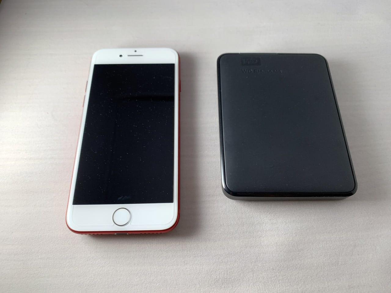 WD Elements Portable 大きさ比較