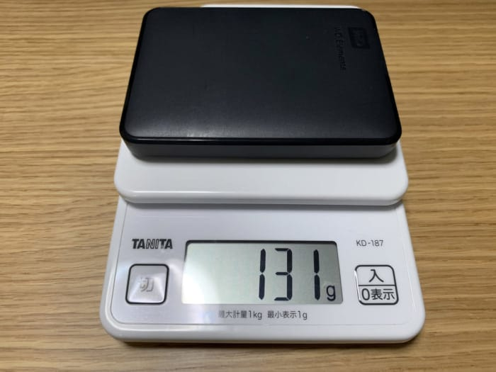 WD Elements Portable 重量
