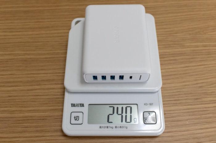 Anker PowerPort I PD - 1 PD & 4 PowerIQ単体の重量