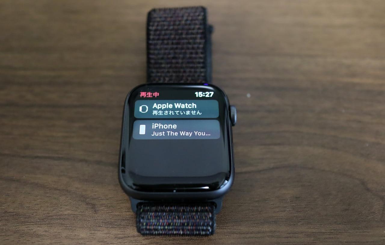 Apple WatchとiPhone上で再生することは別のこと