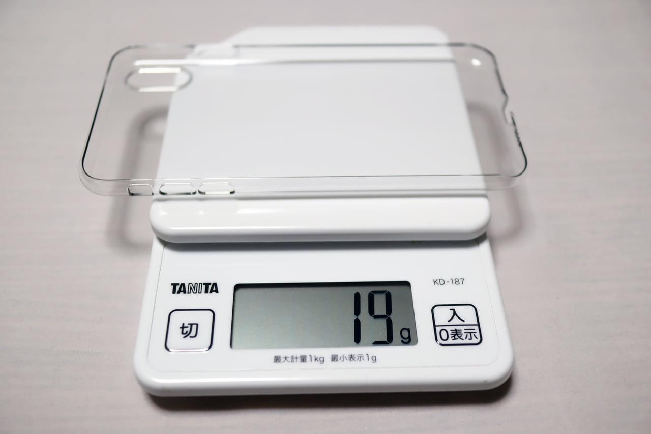 iPhone XS Max用 Air Jacketの重量