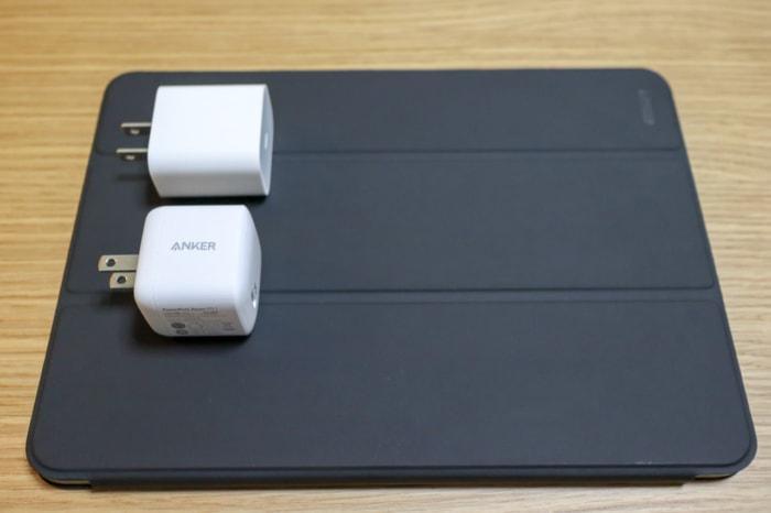 iPad Pro 2018 11インチをAnker PowerPort Atom PD 1で充電