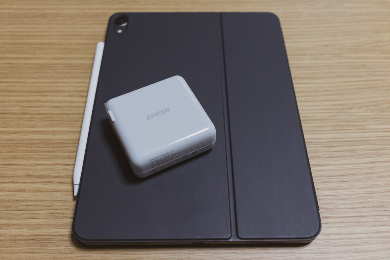 Anker PowerPort Speed+ DuoでiPad Proを充電