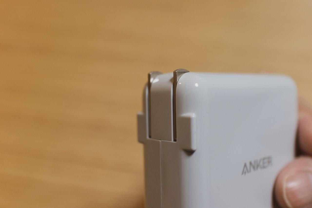 Anker PowerPort Speed+ Duoはプラグが折りたたみ式