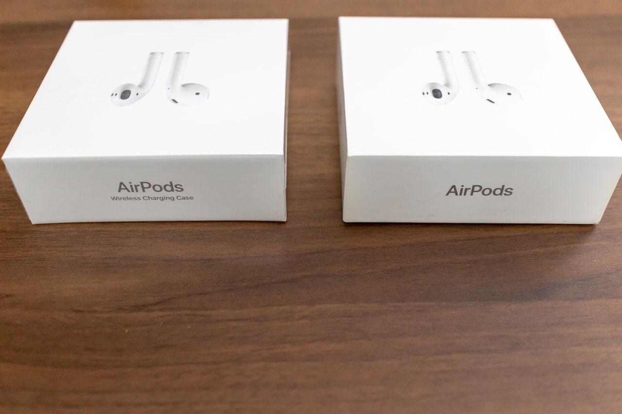 AirPods2の外箱を横から