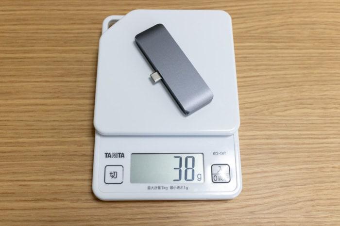 iPad Proに特化した「Satechi アルミニウム Type-C モバイル Proハブ」は小さくて軽い