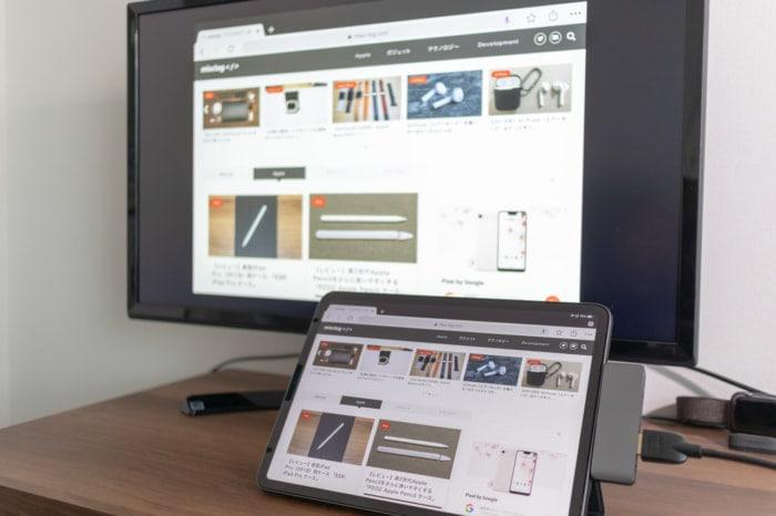 iPad Proに特化した「Satechi アルミニウム Type-C モバイル Proハブ」でHDMI出力