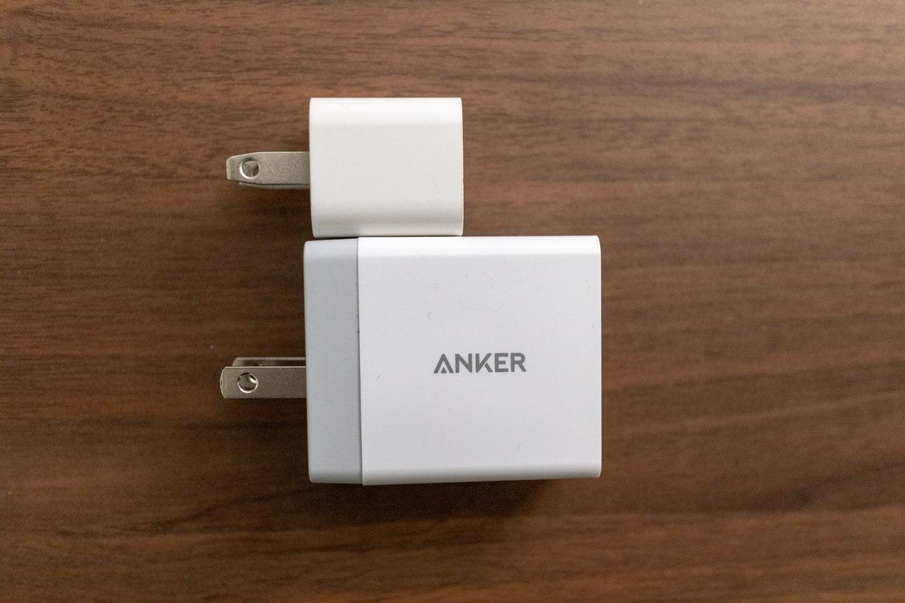 iPhone付属充電器との比較