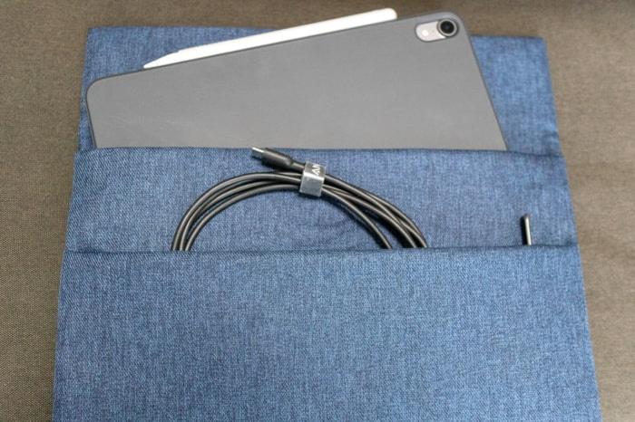 iPad Pro 11インチ用おすすめバッグインバッグ「Inateck スリーブケース」の前面部分