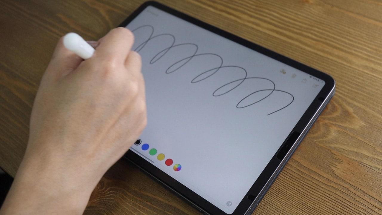 iPad Pro用BELLEMONDペーパーライクフィルムの書き心地
