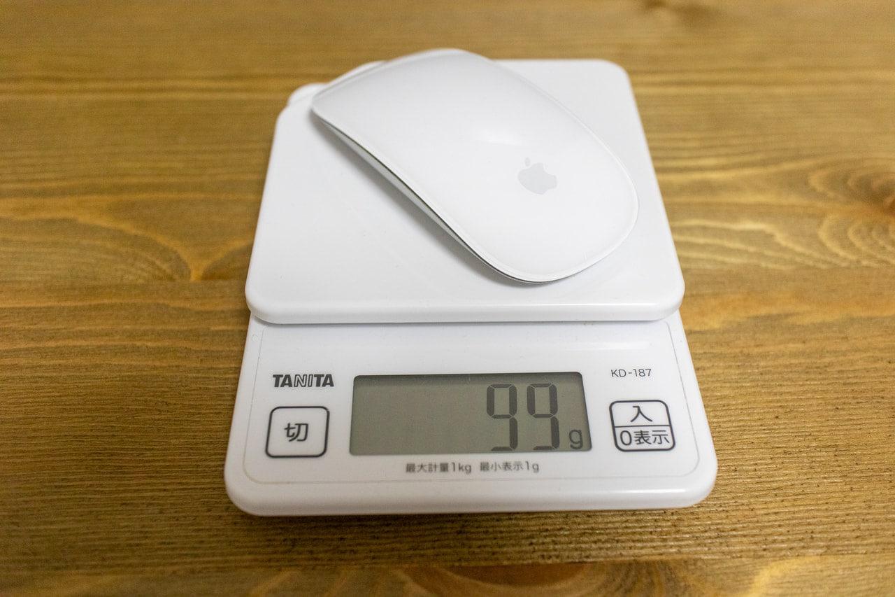 MagicMouseの重量