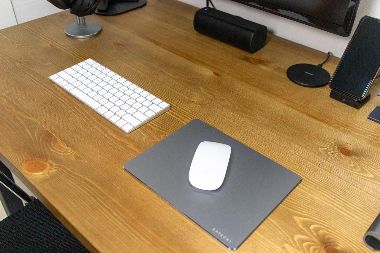 Macによく合うおしゃれなSatechi アルミマウスパッド