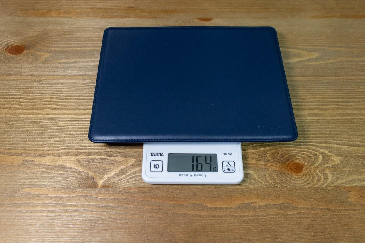 ECOレザー製マウスパッドの重量