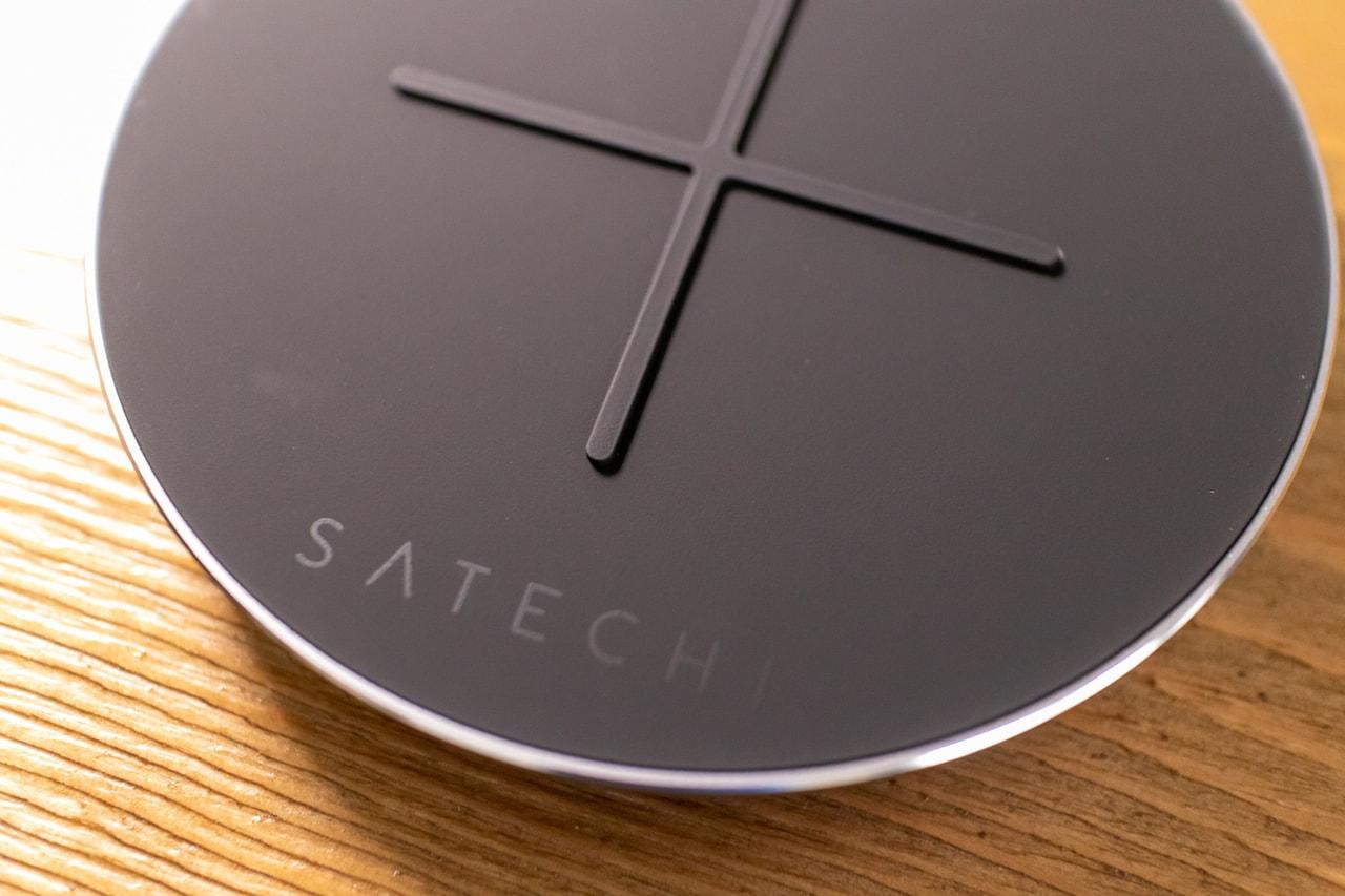 Satechi Qi認証 アルミニウム Type-C PD & QC ワイヤレスチャージャーの充電部分