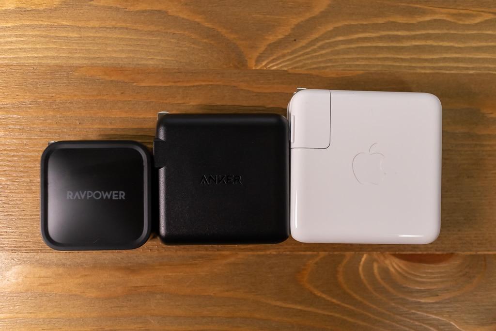 RAVPower RP-PC112とその他充電器を比較