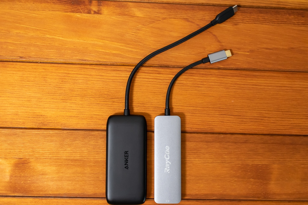Anker 3-in-1 クラシック USB-Cハブはケーブルが長い