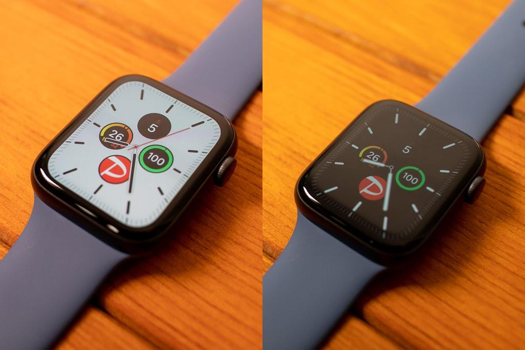 Apple Watch Series 5はディスプレイが常時表示に対応