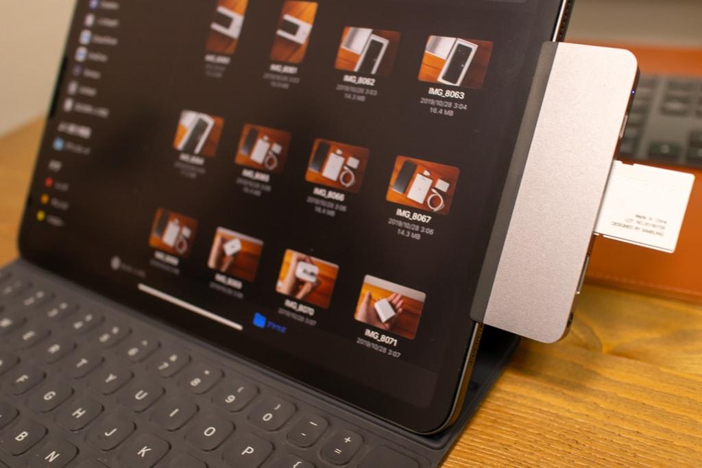 HyperDrive iPad Pro USB-CハブはSDカード接続が可能