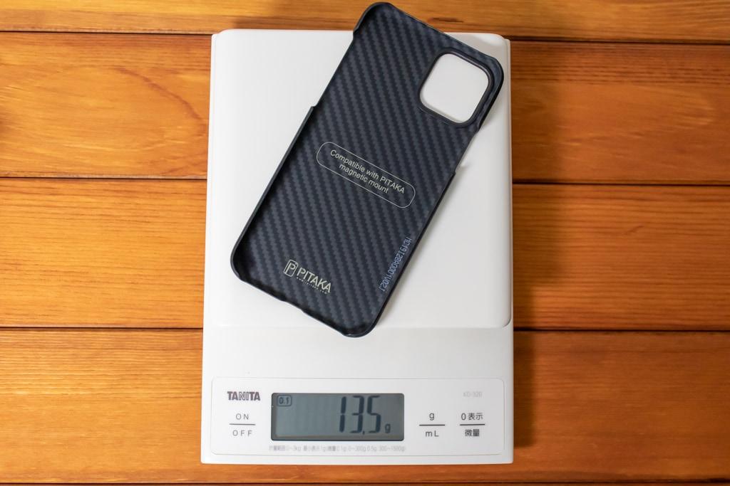 PITAKA MagEZ Caseは13.5gと軽い