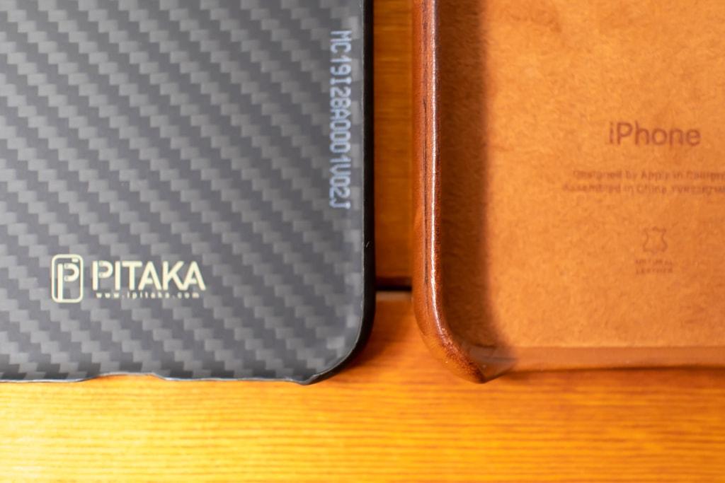PITAKA MagEZ CaseとApple純正レザーケースを比較
