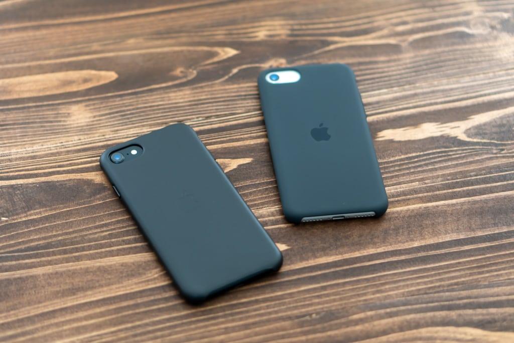 Apple純正iPhone SE 第2世代用レザーケースとシリコンケースはどちらも優秀