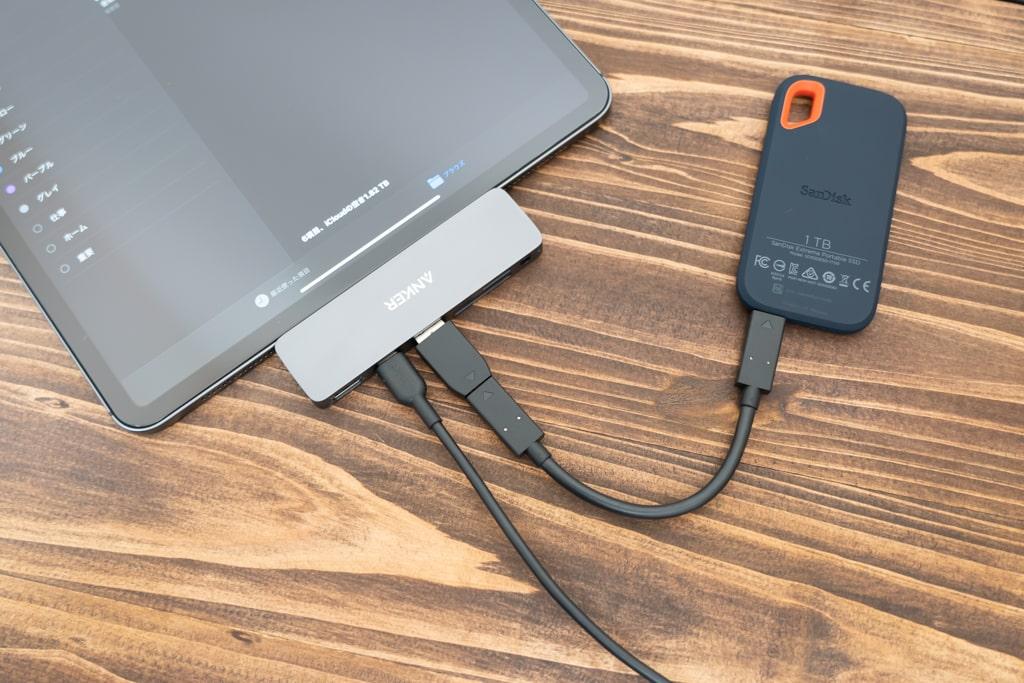 Anker PowerExpand Direct 6-in-1でデータ転送しながら充電も!