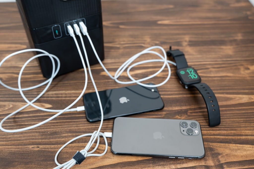 RP-PB187で複数デバイスを充電
