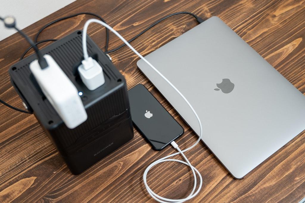 ACがあれば様々なものに給電・充電が可能