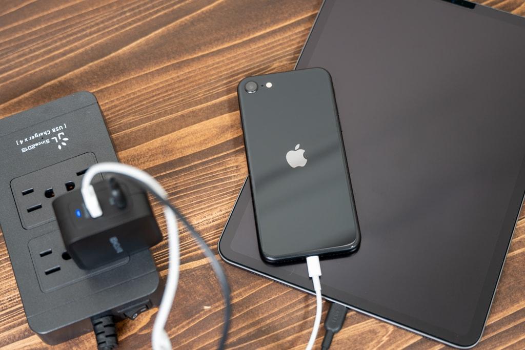 RAVPower RP-PC133でiPad ProとiPhone SEを同時に充電