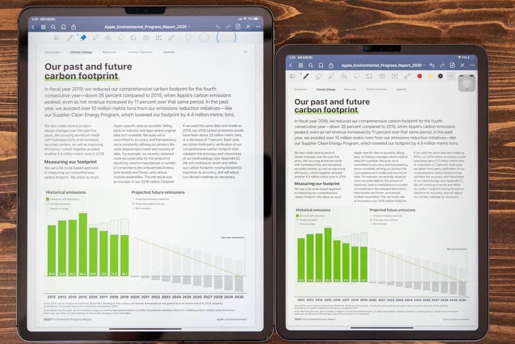 iPad Pro 12.9インチと11インチでPDFを表示