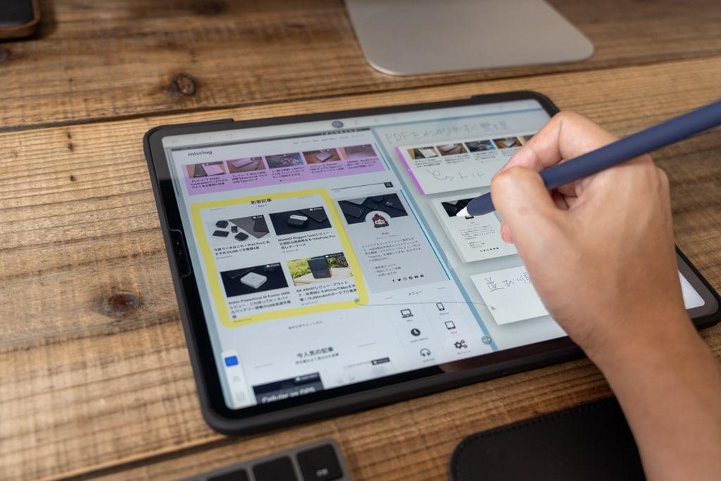 デスクの上でiPad Proを使う