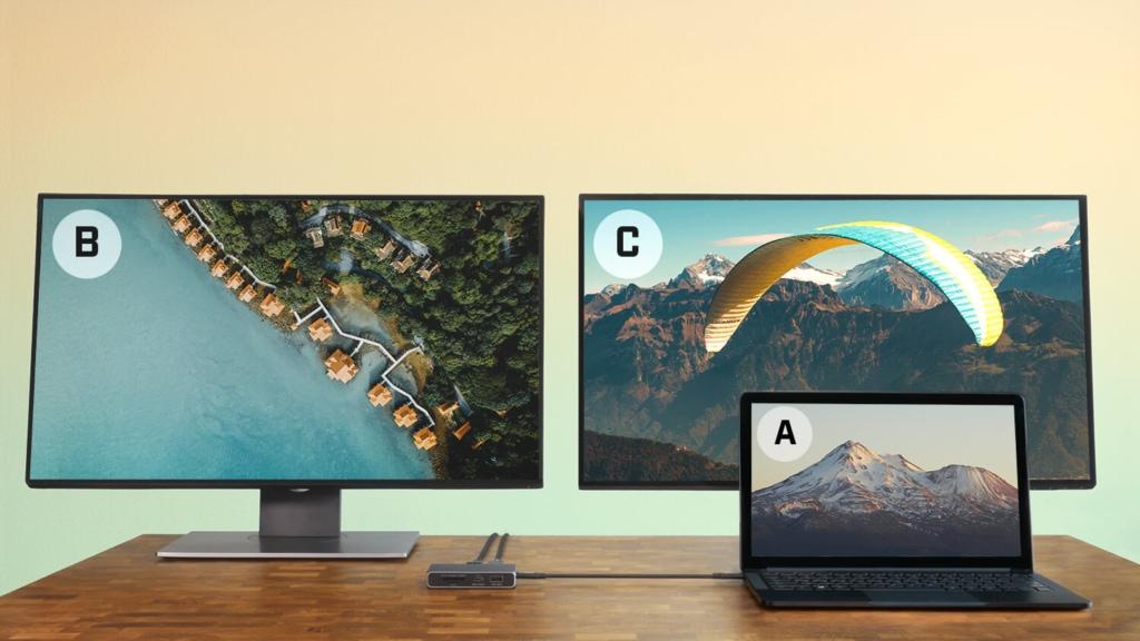 CalDigit USB-C SOHO DockはMacだと複数画面に異なる映像を出力できない
