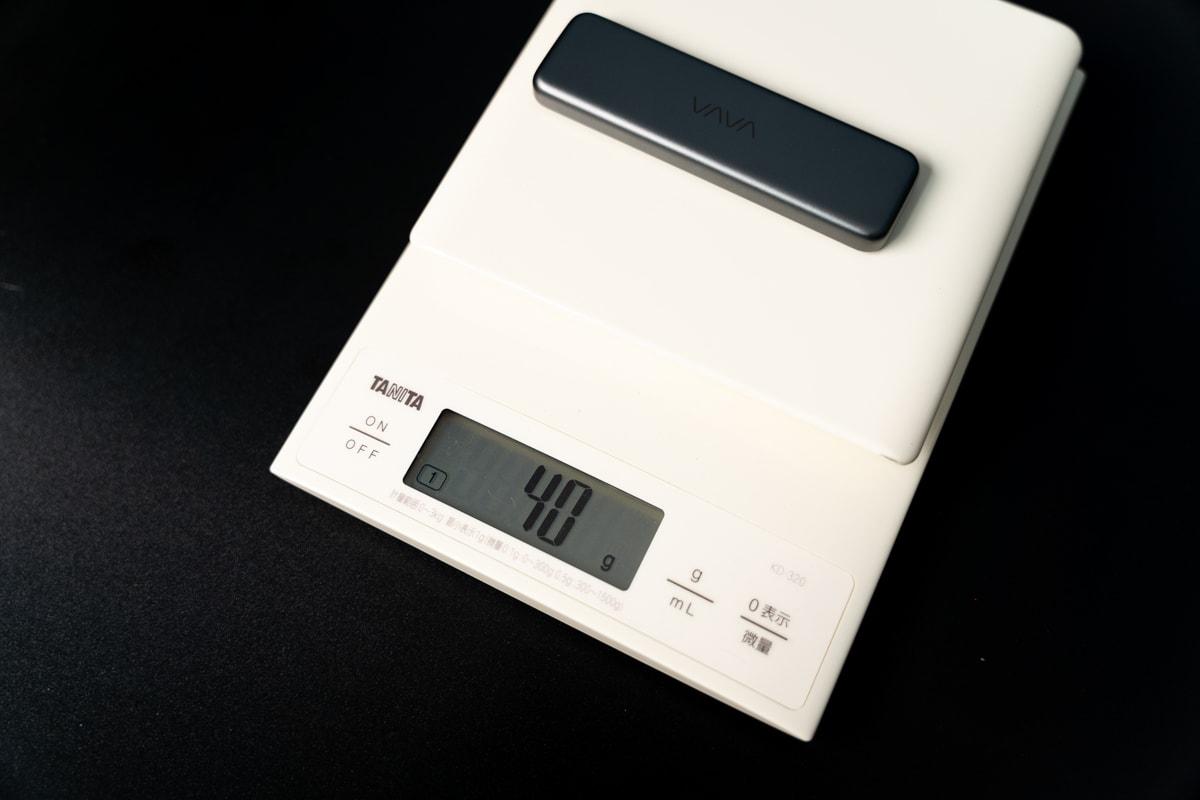 VAVA VA-UM003-1TBは約40g