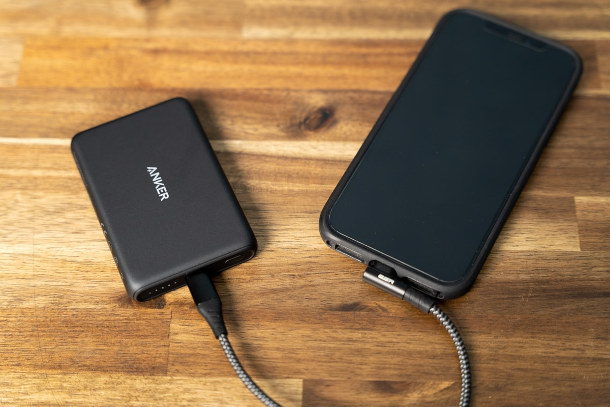 Anker PowerCore Magnetic 5000は普通のモバイルバッテリーにも