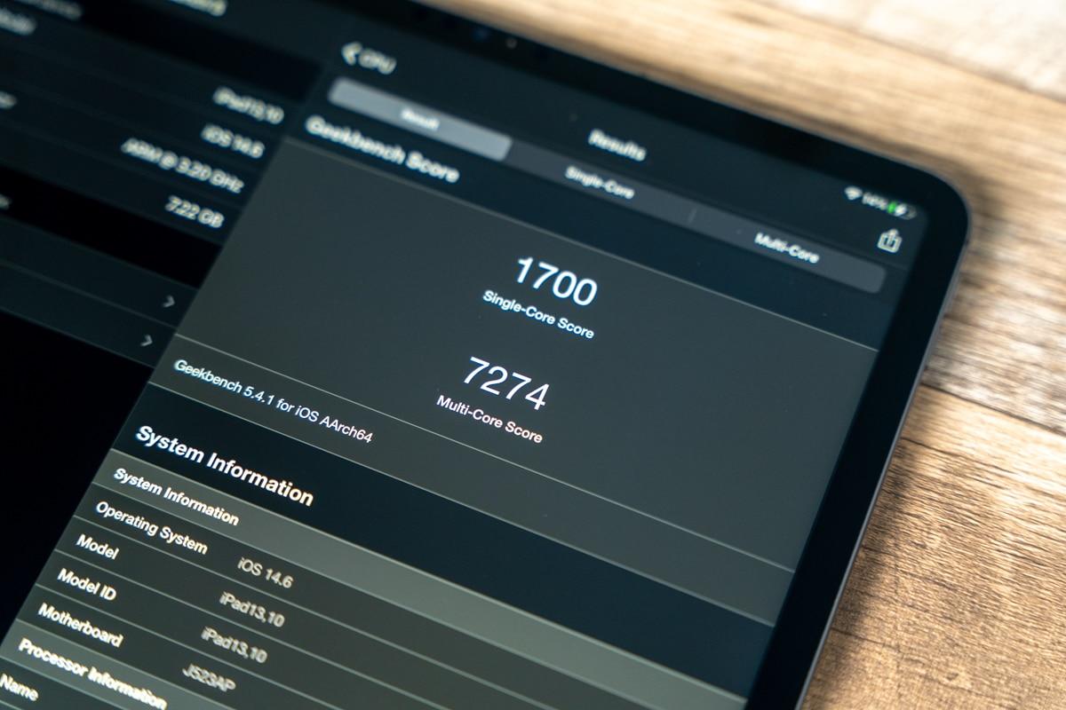 iPad Pro 12.9インチ(2021)のベンチマーク