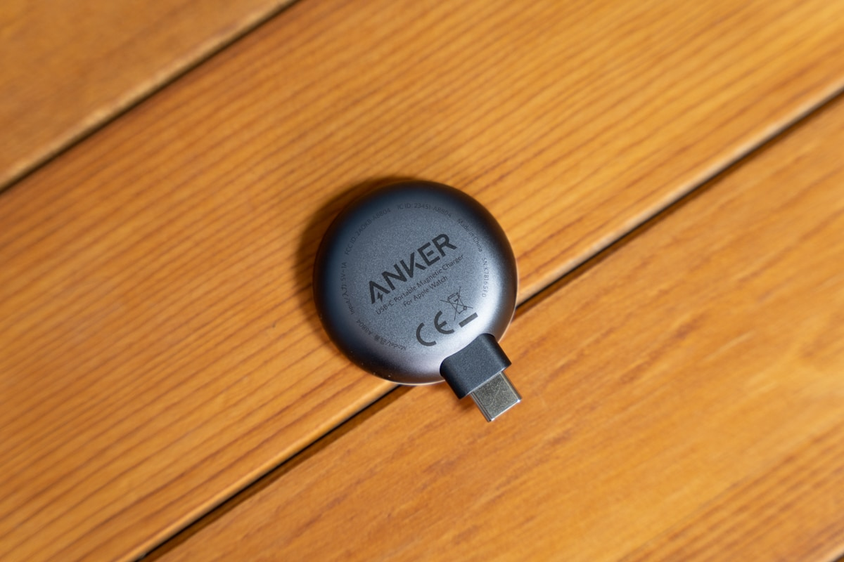 Anker Portable Magnetic Charger for Apple Watchの裏側