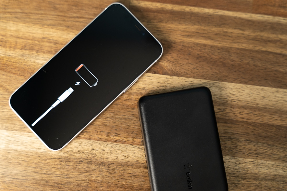 バッテリー0のiPhoneを使って計測