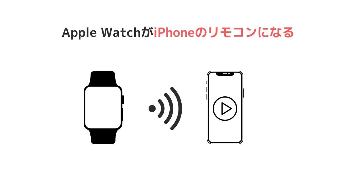 Apple WatchがiPhoneのリモコンになる