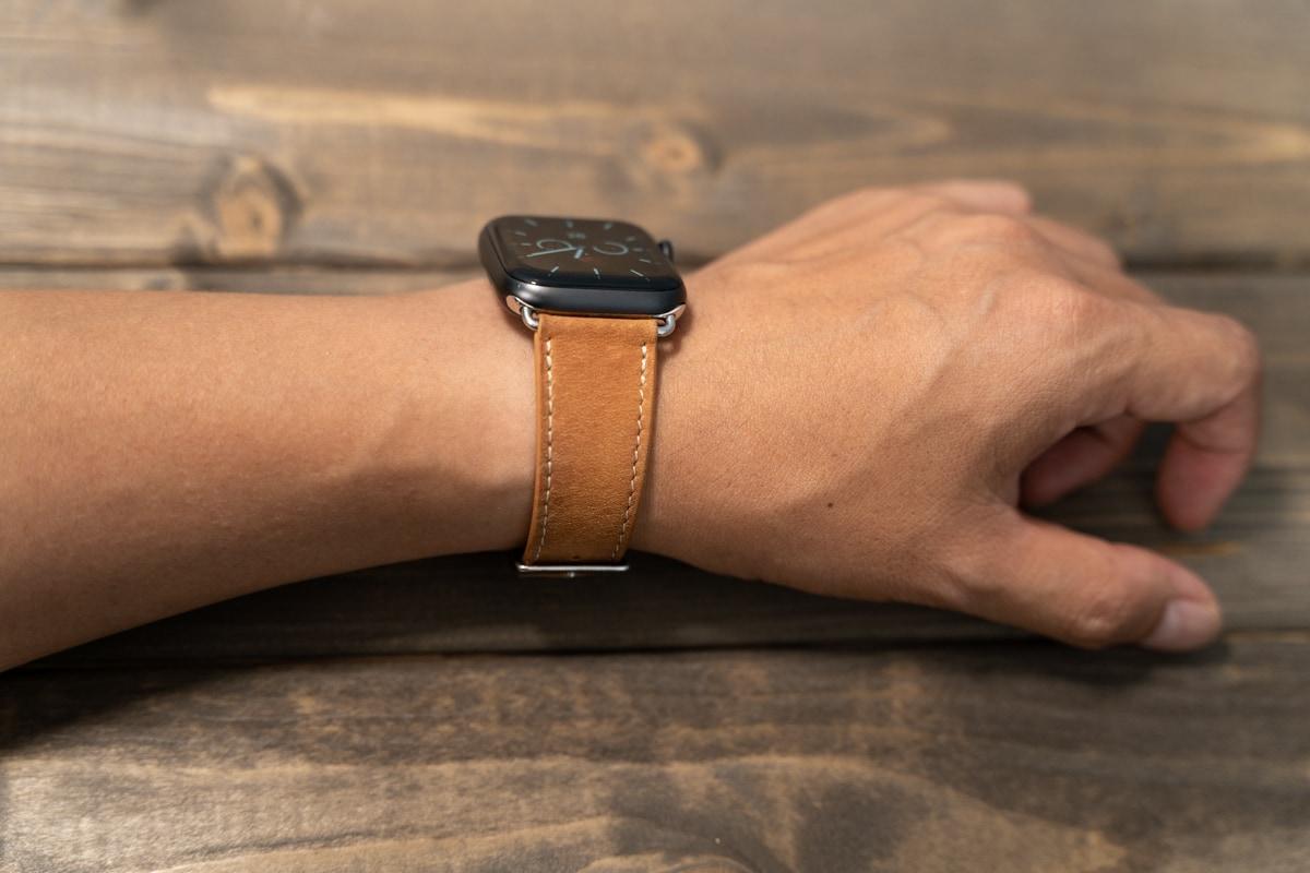 BRG コンパチブル Apple Watch レザーバンド