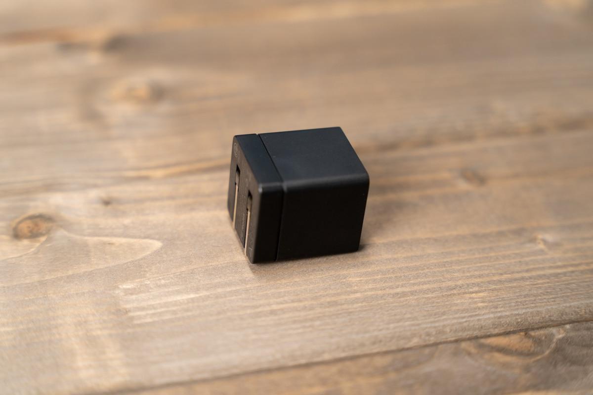 DIGIFORCE 20W USB PD Fast Chargerのプラグを折りたたんだところ
